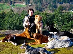 Ben Kersen with furry friends